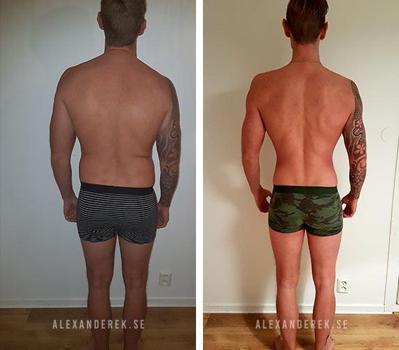 Rickard Pettersons resultat bakifrån efter 12 veckor träning och kost